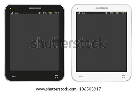 Vector Illustration of Fictitious PC Tablet Isolated on White