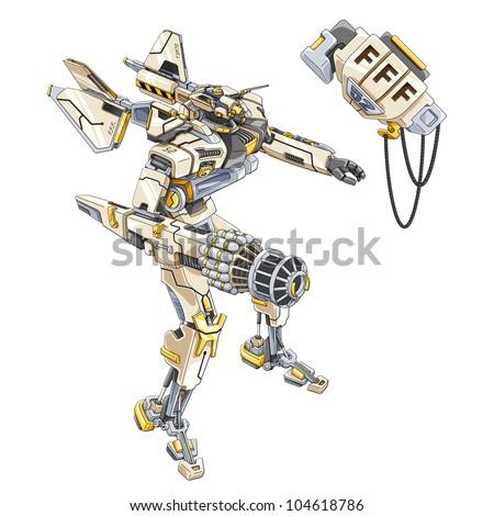 vector illustration of fighter