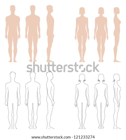 vector illustration of figures