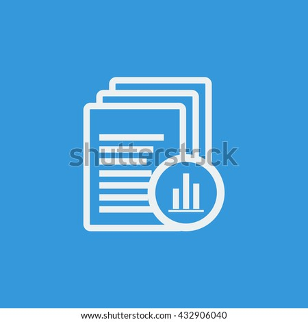 Vector illustration of files stats icon