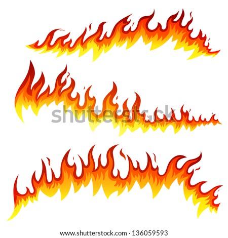 vector illustration of fire...