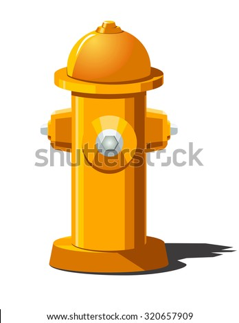 Vector illustration of fire hydrant. Can be used as icon  for games and mobile apps.