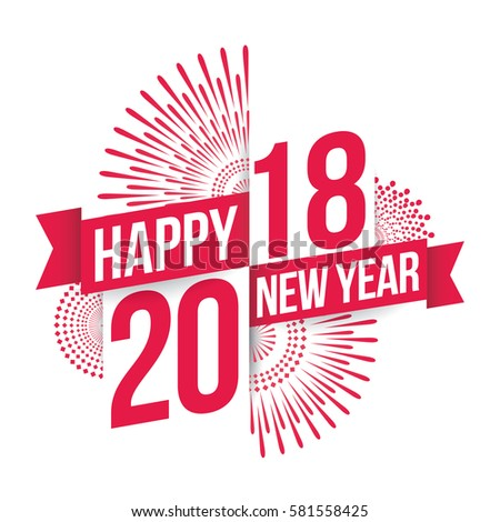 vector illustration of fireworks happy new year 2017 theme ez canvas