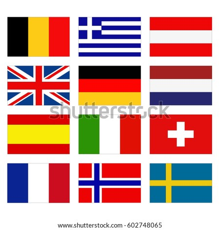 vector illustration of flags of