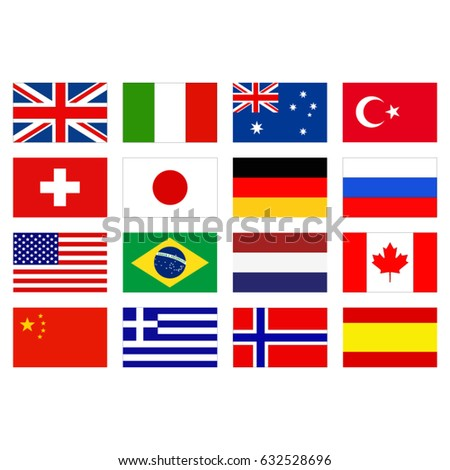 vector illustration of flags of the world #632528696