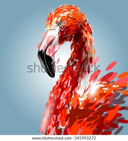 vector illustration of flamingo