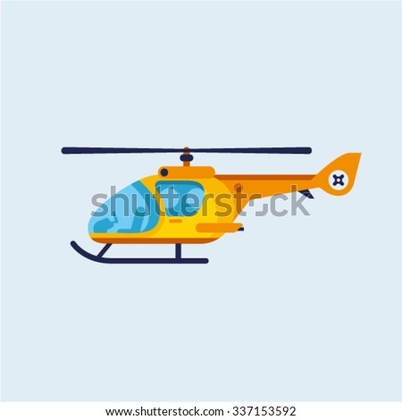 vector illustration of flat