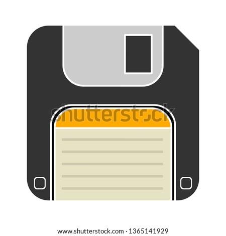 Vector illustration of floppy disk & diskette. information save