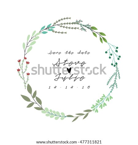 vector illustration of floral