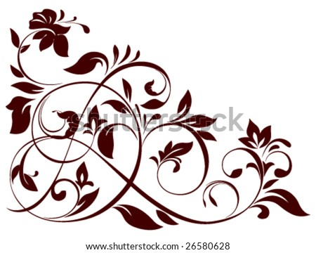 vector illustration of floral ornament