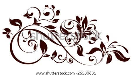 swirl floral design vector 123freevectors. Black Bedroom Furniture Sets. Home Design Ideas