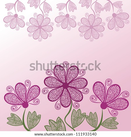 Vector illustration of floral pattern background