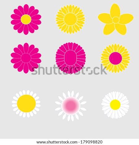 vector illustration of  flowers
