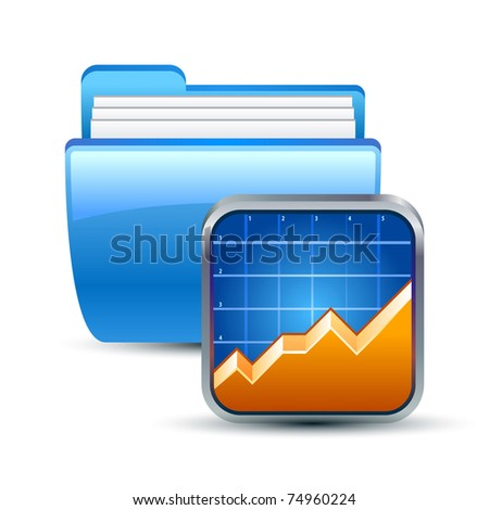 Vector illustration of folder and graphic icon