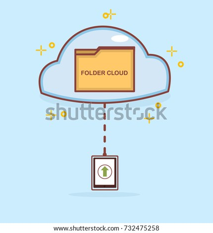 vector illustration of folder