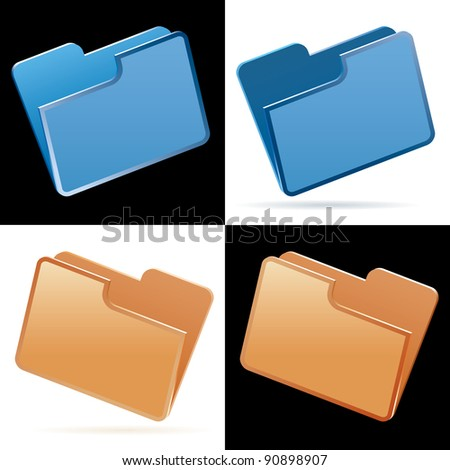Vector illustration of folders.