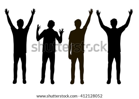 vector illustration of four men ...