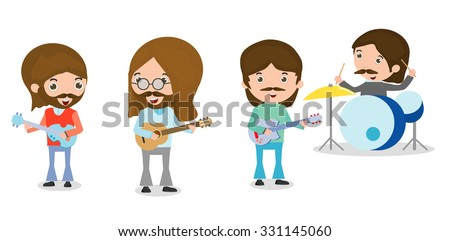 vector illustration of four
