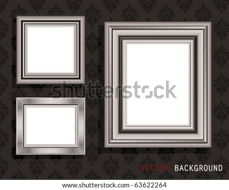 Vector Illustration of frame for picture.