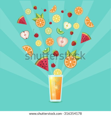 vector illustration of fruit