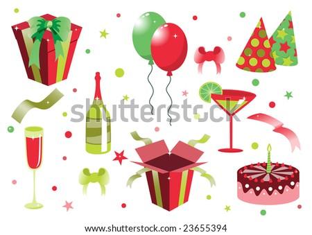 Happy Birthday Icons. ostrich. happy birthday