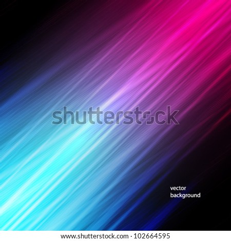 Vector illustration of futuristic abstract glowing background with neon light stripes
