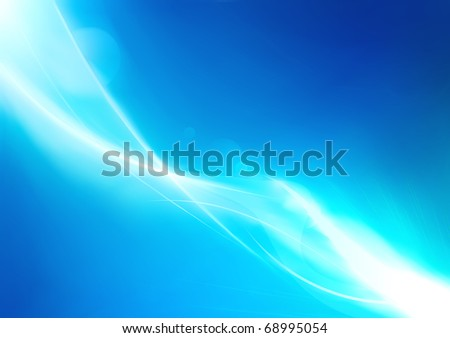 Vector illustration of futuristic blue abstract glowing background