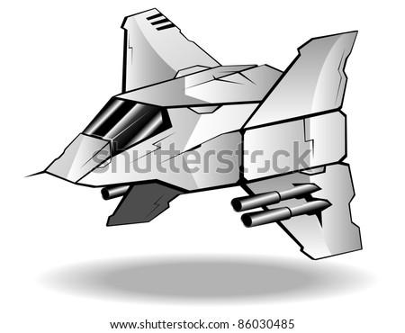 vector illustration of futuristic spaceship.vector 9