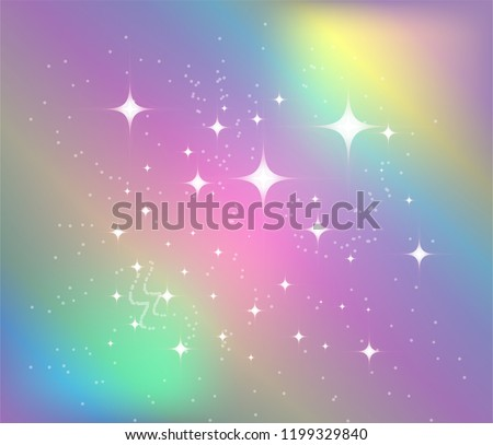 Vector illustration of galaxy fantasy background and pastel color ストックフォト ©