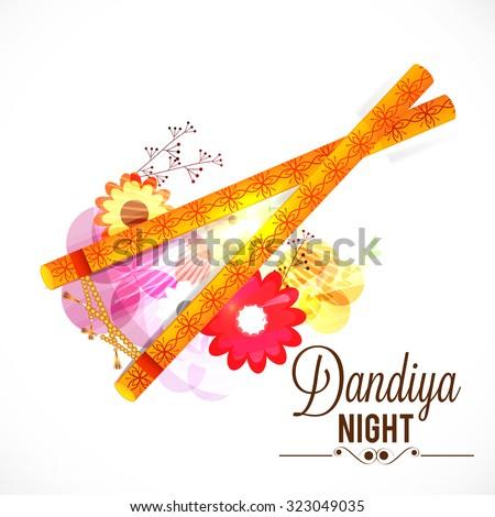 vector illustration of garba