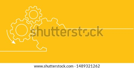 Vector illustration of gears with on the blue background template Cogwheel gear mechanism Service icon gears cogs cog settings setting signs vector brain pictogam fun funny planning team work people