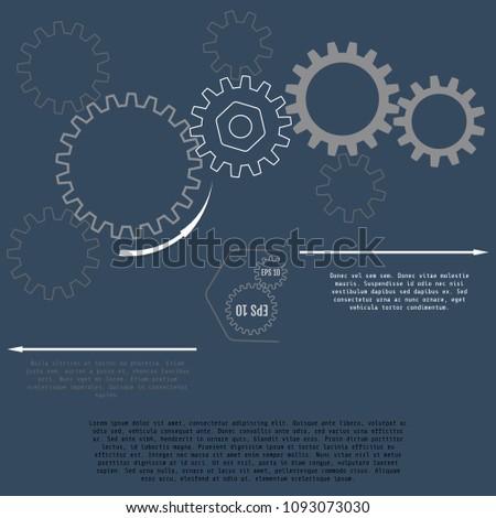vector illustration of gears
