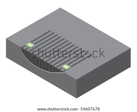 Vector illustration of generic cable modem