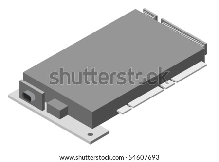 Vector illustration of generic computer board