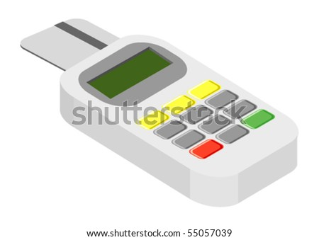 Vector illustration of generic credit card reader device