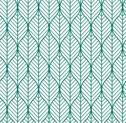 Vector illustration of geometric leaves seamless pattern. Floral organic background.