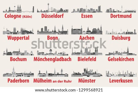 vector illustration of germany