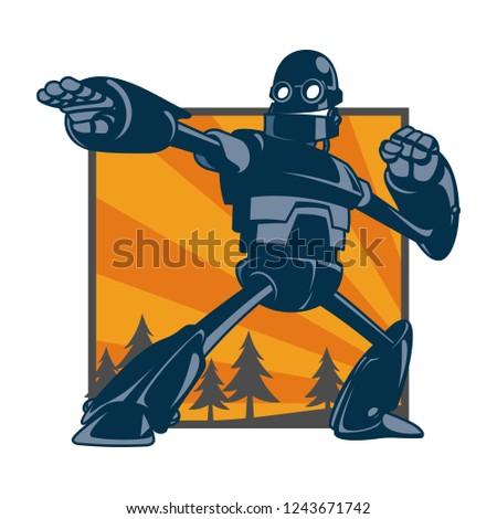 vector illustration of giant