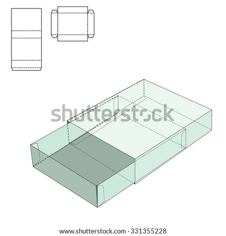 packaging box template illustrator free 123freevectors. Black Bedroom Furniture Sets. Home Design Ideas