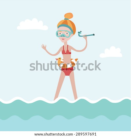 vector illustration of girl