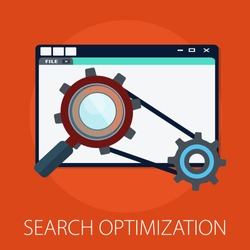 Vector illustration of global search an world magnifying concept with