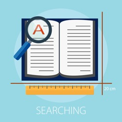Vector illustration of global search and world magnifying concept with