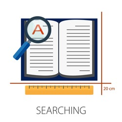 Vector illustration of global search & world magnifying concept with