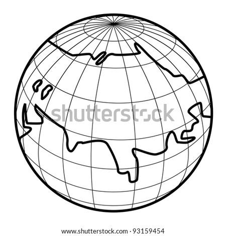Vector illustration of globe icon - stock vector
