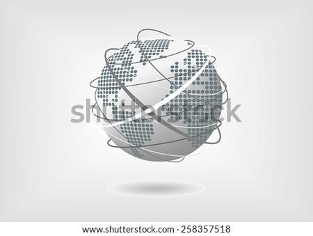 vector illustration of globe