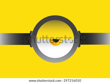 vector illustration of goggle