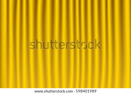 Vector Illustration Of Gold Curtain Theater Background