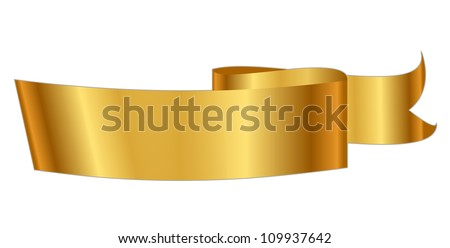 Vector illustration of gold ribbon