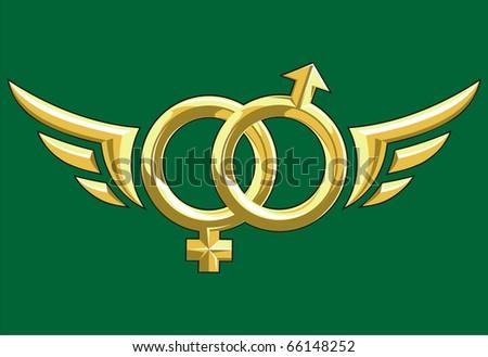 Vector illustration of gold rings