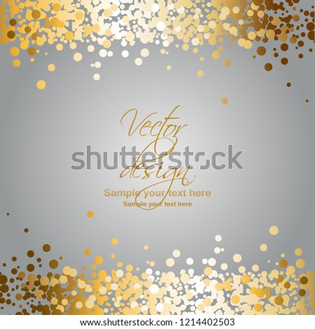 Vector illustration of Gold sparkles on a gray background #1214402503